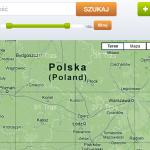 Mapa z serwisu pedaluj.pl