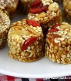 ciastka sezamowe z goji przepis