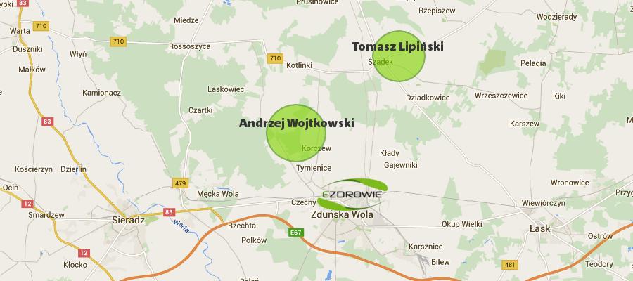 współpracujemy Wojtkowski Lipiński mapa