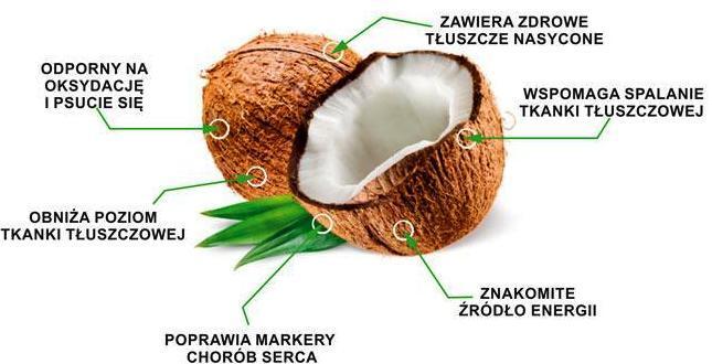 olej kokosowy kokos właściwości